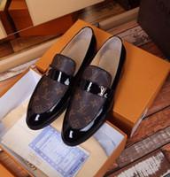 botas de couro venda por atacado-Sapatos de couro de negócios 2075 Guan Men Dress Shoes Botas Mocassim Drivers Buckles Sneakers Sandals