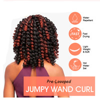 Wholesale blonde ombre crochet hair resale online - Jamaican Bounce Crochet Hair Ombre Crochet Braids Synthetic Braiding Curly Crochet Twist Hair Extensions Inch Blonde Hair