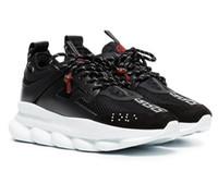 ingrosso repliche di acquisto-Versace Reazione a catena Casual Designer Sneakers Sport Fashion Scarpe casual Trainer leggero con suola in rilievo con sacchetto per la polvere