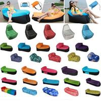 piscinas plegables al por mayor-Sofá inflable rápido perezoso del aire Muebles al aire libre plegables Saco de dormir Silla de playa Sofá de agua Sofá cama inflable Piscina de natación Flotadores