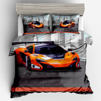 Wholesale car quilts for sale - Group buy Lamborghini Sports Car Pinted D Luxury Duvet Cover Set Bedding Twin Full Queen King Size Quilt Cover Pillowcase
