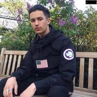 melhores jaquetas do exército venda por atacado-Melhor Qualidade S Pullover Jacket Men Flag Mulheres Moda Casacos Casacos Top Quality Exército Verde Preto S ~ xl Hfyrf004