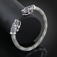 wolfskopf armbänder großhandel-Teen Wolf Kopf Armband Indischen Schmuck Mode-accessoires Viking Armband Männer Armband Manschette Armbänder Für Frauen Armreifen