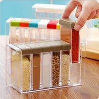 банки для хранения приправы оптовых-Прозрачный россия аромат Spice jar приправа jar кухня приправа коробка акриловая приправа коробка для хранения Cruet 6 шт. / Компл.