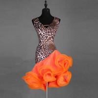 mädchen fringe kostüm großhandel-Latin Dance Dress Professionelle Kostüm Für Frauen Fringe Samba Chacha Kostüm Leopard Mädchen Ballsaal Wettbewerb Kleider Quasten
