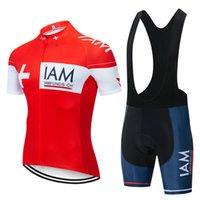 chemises de vélo porte achat en gros de-2019 hommes IAM Vélo Jersey Ensemble D'été Vélo Shirt cuissard costume costume Sportswear En Plein Air Vtt Bike Wear Ropa Ciclismo Y022203