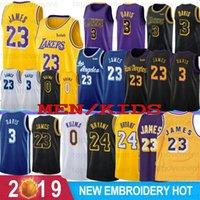 camisetas de baloncesto juvenil xl al por mayor-NCAA Crenshaw LeBron James 23 Anthony Davis 3 jerseys del baloncesto de la universidad el 24 de Kobe Bryant 8 32 Kyle Johnson 0 Kuzma los hombres calientes de la Juventud