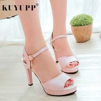 85512753ea3789 Shoes Peep Toe Fashion Platform Thin Heels Pumps for Women Summer Casual  Beach High Heel Ladies Sexy Sandals Footwear KAS5747