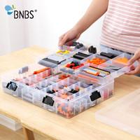 ingrosso grandi blocchi di plastica-BNBS Building Blocks Lego Toys Custodia per bambini di grande capacità Custodia in plastica trasparente Organizer Box in grado di regolare lo spazio di archiviazione