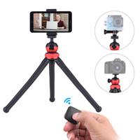 tripé flexível dslr venda por atacado-Andeor MZ305 Octopus Flexível mini Tripé para telefone com Controle Remoto para Smartphone DSLR ILDC Camera Hero / Yi