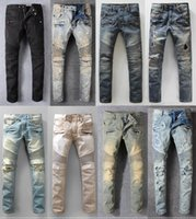 marka motorlar toptan satış-Yüksek Kaliteli Dünyaca Ünlü Marka Motor Biker Jeans Pop Eğilim Dökümlü Denim Pantolon Kovboy Slim-fit Denim Kot Seyahat Rahat Pantolon Boyutu 29-42