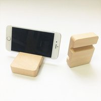 Wholesale wooden tablet stand resale online - Natural Wooden Cell Phone Holder Stand For iPhone X S Plus Mobile Phone Support Holder For iPad Stand Tablet Accessories