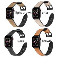 bracelets de montres en cuir vintage achat en gros de-Bracelets de mode vintage pour Apple watch series 4 3 2 1 Boucle Sangle 38 42MM pour bracelet en silicone iWatch en cuir 40 Bracelet de 44MM