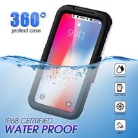 sugeçirmez kirli çanta toptan satış-IPhone Için 100% Su Geçirmez Kılıf Xr MAX XR XS X IP68 Dalış Yüzme Su / Kir / Şok Proof Telefon Çanta Kılıfları IPhone XR X