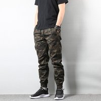 ingrosso esercito pantaloni jogger-Pantaloni da uomo Jogger Camo Pantaloni mimetici da uomo Autunno Moda Uomo Army Homme Hip Hop taglia US S-XL