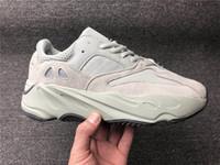 yeni dalga üstü toptan satış-Adidas Yeezy Boost 700 Dalga Koşucu Erkek Kadın Koşu Ayakkabıları V2 Statik Tasarımcı Sneakers Leylak Katı Gri Tuz 36-48