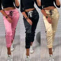 Wholesale womens yoga pants resale online - 2019 Womens Fitness Yoga Leggings Running Gym Sport High Waist Jogging Pants Trousers