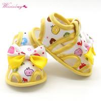 bebek kumaş sandaletler toptan satış-Çiçek Çocuk Sandalet Kızlar Için Yaz Prenses Bebek Yürüyor Çocuk Yumuşak Pamuklu Kumaş Ayakkabı