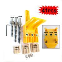 Woodworking Dowel Jig 6 8 10 mm Drill Guide Metal Sleeve Handheld Wood Doweling Hole Drill Set DIY Favor DEC519