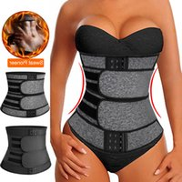 Wholesale sweat belts for women resale online - Faja Shapewear Neoprene Sauna Waist Trainer Corset Sweat Belt for Women Weight Loss Compression Trimmer Workout Fitness
