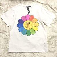 benannte kleidung großhandel-19SS Sommer Murakami Takashi Joint Name Sonnenblume T-Shirts Hip Hop Kurzarm Baumwolle Kleidung Oansatz Mode HFHLDX001