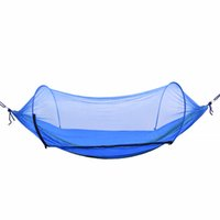 Wholesale tents sleep resale online - Hammock Outdoor Mosquito Net Parachute Swing Hammock Camping Hanging Chair Person Sleeping Bed Portable Tent Garden
