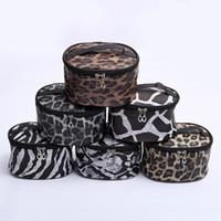 Wholesale zebra bags for sale - Group buy Leopard Makeup Bag PU Sanke Toiletry Bag Zebra Organizer Cosmetic Bags Gift Travel Case DOMIL1061265