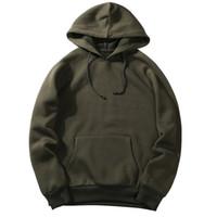 фирменный стиль hoody оптовых-NIBESSER 2018 Casual Autumn Mens Hooded Hoodies Fashion Sweatshirt Loose Tracksuit Tops Men  Hoodies Solid Hoody Sweatshirt