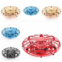 Wholesale infrared flying toy resale online - Mini Drone UFO Toys Infrared Sensing Control Hand Flying Aircraft Anti collision Hand operated Quadcopter Induction Toy Drone Xmas Gifts