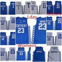 b408e75a3ce Wholesale Womens Kentucky Wildcats Anthony Davis Basketball Jersey Lady Devin  Booker DeMarcus Cousins Towns John Wall