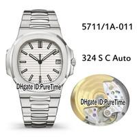 ingrosso migliore orologio sportivo automatico-Migliore versione PF 5711 / 1A-011 Cassa in acciaio bianco Texture Cal.324 S C Mens automatico Guarda orologi da uomo sportivo di alta qualità Super 3 colori P002b2