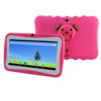 Wholesale A33 Tablet PC Capacitance Quad Core Q8 Kid Tablet Learning Video WIFI Computers Networking Camera GB ROM MB RAM Bluetooth G Google DHL