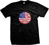 ingrosso gli stati della sfera-USA Paint Splatter Soccer Ball Flag - T-shirt da uomo American Pirde americana