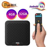 usb 265 venda por atacado-M9S J2 4 GB 32 GB CAIXA de TV Android 8.1 RK3328 Quad Core Inteligente CAIXA de Suporte 3D 4 K H.265 2.4G WIFI HDMI Quad-Núcleo USB 3.0 Media Player Melhor S905W