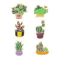 Wholesale brooches sale for sale - Group buy Hot Sale Cactus Grass Flower Brooch Enamel Pin Green Plant Potted Brooches for Women Denim Coat Lapel Pin Badge Jewelry Gift