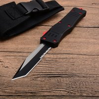 Wholesale A161 Combat Troodon Auto Tactical Knife C Tanto Half Serration Blade Outdoor Survival Rescue Knives EDC Tools