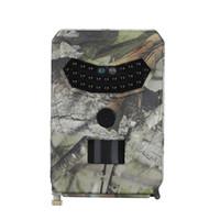 avcılık gece görüş kameraları toptan satış-STOKTA PR-100 12MP IR Gece Sürüm Yaban Hayatı Gözlemci LED Avcılık Kaydedici Su Geçirmez Vahşi Kamera Vahşi Görüş Gözetim Kamera