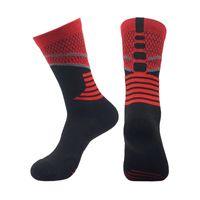 chaussettes de sport d'élite achat en gros de-2019 chaussettes de basket-ball élite de la sueur absorbant chaussettes antidérapantes pour hommes