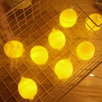 Wholesale small led string lights for sale - Group buy BRELONG LED lemon light string holiday decoration small lantern network red ins string lights store layout flashing light batter