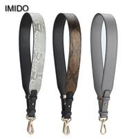 аксессуары для ремней сумки оптовых-IMIDO 85cm Bag Strap Soft pu Leather Women Handbag Belt Shoulder Bag Strap Replacement Accessory Parts  Design Grey STP118