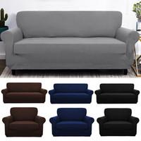 sofá del asiento al por mayor-Elástico Spandex Sofá Cubierta Tight Wrap Todo incluido Fundas de sofá para la sala de estar Sofá seccional Cubierta Love Seat Patio muebles