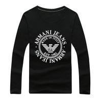 5436482807f0 Camicie di stilista Abiti da uomo Stampa manica lunga T-shirt da uomo Slim  Fit T-shirt in cotone T-shirt casual tinta unita