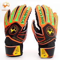 Wholesale gloves fingers for babies resale online - Baby Soccer Football Goalie Gloves Anti skid Finger Save Child Goalkeeper Gloves for Goalie Beginners size
