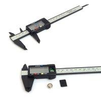kohlenstoff-manometer groihandel-150mm 6 Zoll LCD-Digital-elektronische Carbon-Faser-Messschieber Mikrometer Plastiksattel mengmeng666