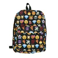 moderne frauen rucksack großhandel-Unisex Rucksack Moderne Frauen Lächeln Emoji Rucksack Emoticon Pack Schulter Mode Mochila Reise Laptop Lässig Schultasche