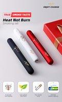 rf electronic venda por atacado-Original cigarro eletrônico RF Iqo vape kit calor não queimar até 12 contínua e compatível com iQOS