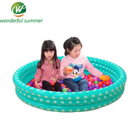 aufblasbarer fischball großhandel-96 * 20 cm riesigen aufblasbaren Pool für Kinder und Baby Ocean Ball Planschbecken Start Print drei Schichten Angeln