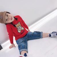 nuevos suéteres de porcelana al por mayor-Nueva llegada Niños Niñas Niños Suéter Otoño Invierno Dibujos animados Algodón Punto Rojo Jerseys para Niños Ropa de Bebé