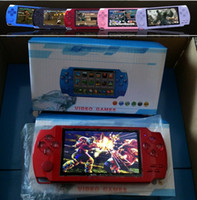 Wholesale mp4 mp5 games resale online - 4 Inch PMP Handheld Game Player MP3 MP4 MP5 Player Video FM Camera Portable GB Game Console free DHL