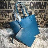 Wholesale nylon cross body shopping bag resale online - 2019 M40882 Blue Color Shopping Bags Women Fashion Shoulder Bags Hobo Handbags Top Handles Boston Cross Body Messenger Shoulder Bags